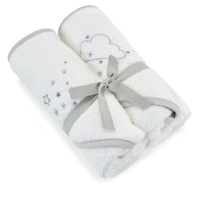 Baby Elegance Hooded Towel 2 Pack – Grey - Default