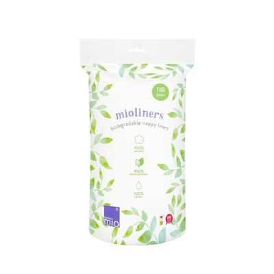 Bambino Mio Mioliners Biodegradable Nappy Liners - 160 Pack