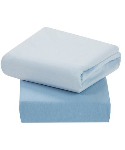 Clevamama Jersey Cotton Cot Bed Fitted Sheets  - Blue