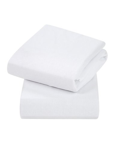 Clevamama Jersey Cotton Cot Bed Fitted Sheets - White