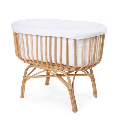 Childhome Rattan Crib Craddle, Cover & Mattress Bundle - Default