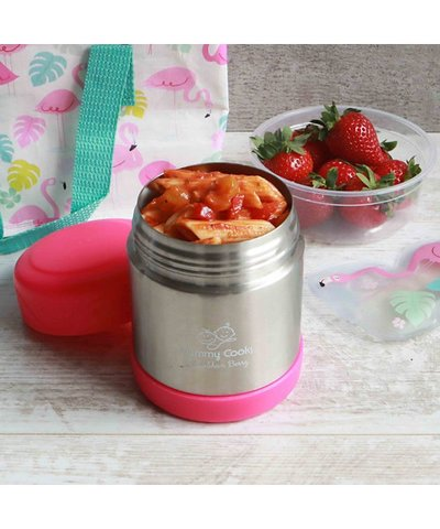 Mummy cooks food flask - pink