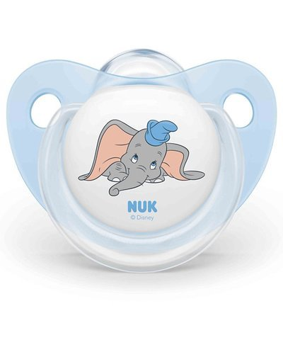NUK Dumbo 6-18m Trendline Silicone Soother 2 Pack - Blue
