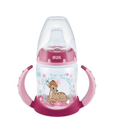 NUK First Choice Bambi Learner Bottle 150ml (6m+) - Pink