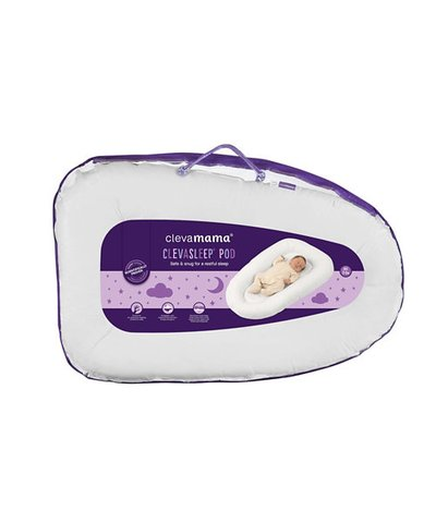 ClevaMama ClevaSleep Pod - White/Soft Grey