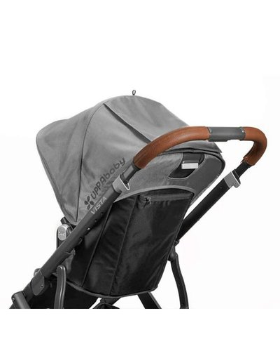 Uppababy Vista Leather Handle Bar Cover - Saddle
