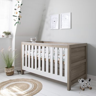Tutti Bambini Modena Cot Bed - White/Oak - Default