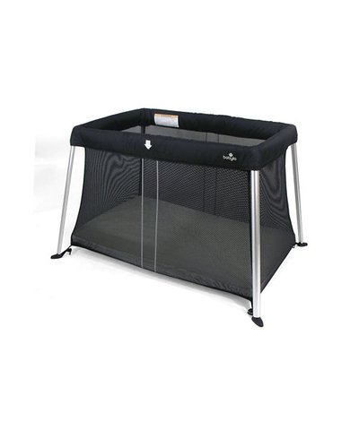 Babylo Liteway Travel Cot - Black Mesh