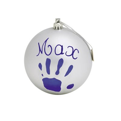 Baby Art Silver Bauble
