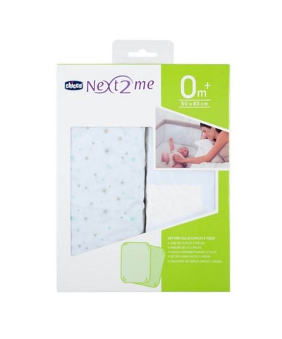 Chicco Fitted Crib Sheets 2 Pack - Stars