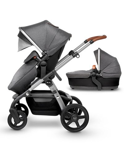 Silver Cross Wave Pram and Pushchair - Granite