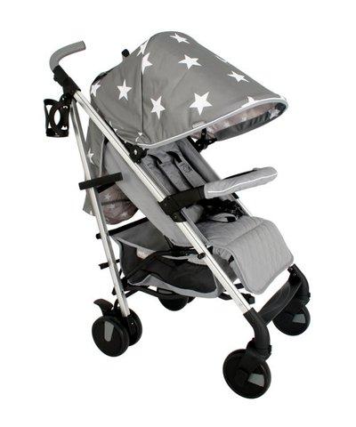 My Babiie MB51 Stroller - Grey Star