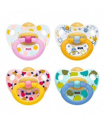 NUK Happy Kids Latex Soother 0-6m