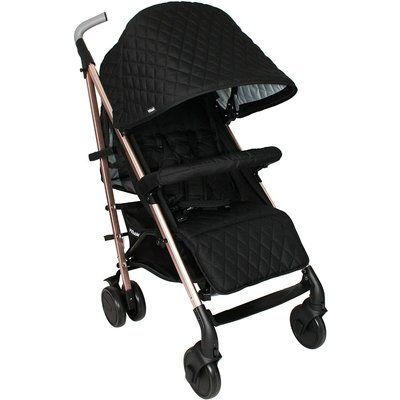My Babiie Stroller - Rose Gold Quilted Black