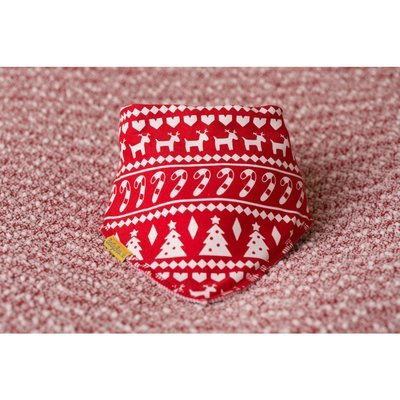 BabyBoo Red Nordic Organic Cotton Bandana Bib