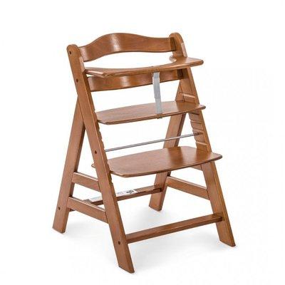 Hauck Alpha+ Wooden Highchair - Walnut (6mths+)