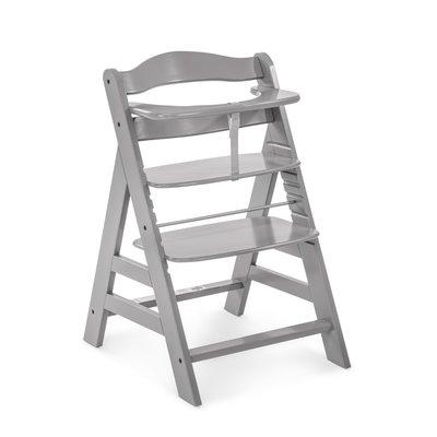 Hauck Alpha+ Wooden Highchair - Grey (6mths+)