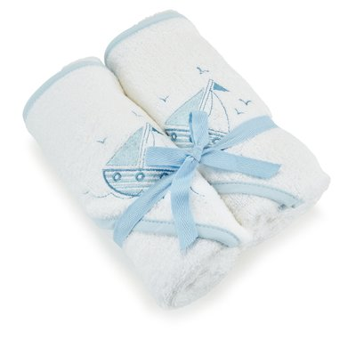 Baby Elegance Hooded Towel 2 Pack – Blue
