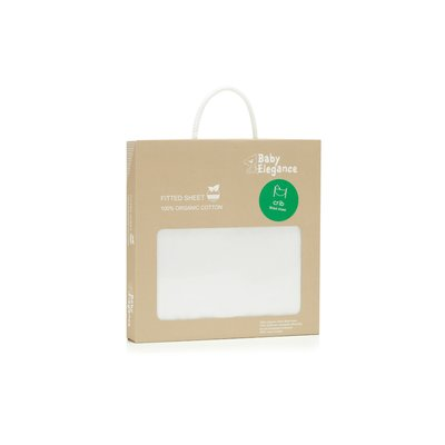 Baby Elegance Cot Bed Organic Cotton Sheet