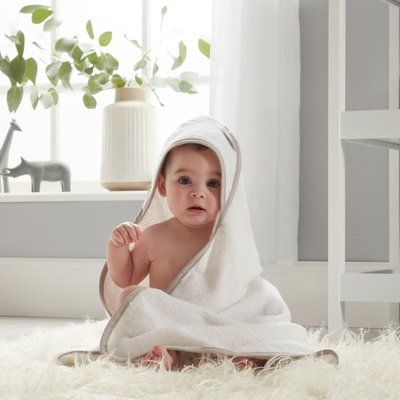 Shnuggle Hooded Towel - White