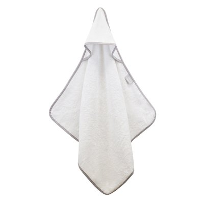Shnuggle Bamboo Baby Hooded Towel - White