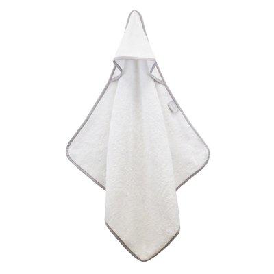 Shnuggle Bamboo Baby Hooded Towel - White