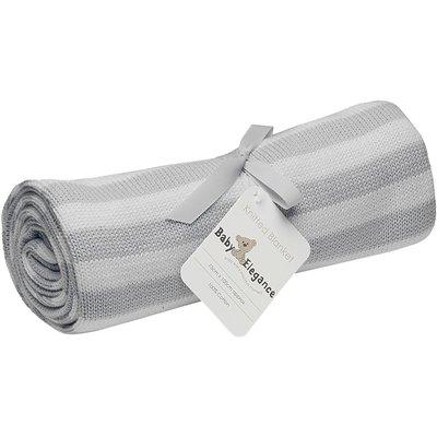 Baby Elegance Pearl Knitted Blanket - Grey & White