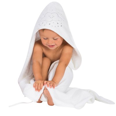 Clevamama Apron Baby Bath Towel - White - Default