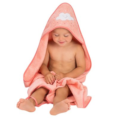 Clevamama Apron Baby Bath Towel - Coral