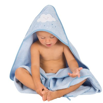 Clevamama Apron Baby Bath Towel - Blue