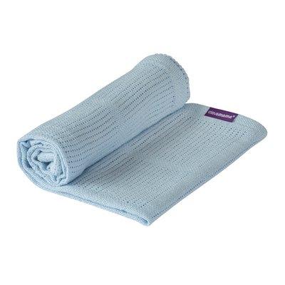 Clevamama Cellular Blanket Crib/Moses Basket 70 x 90 cm - Blue