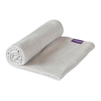 Clevamama Cellular Blanket Crib/Moses Basket 70 x 90 cm - Grey