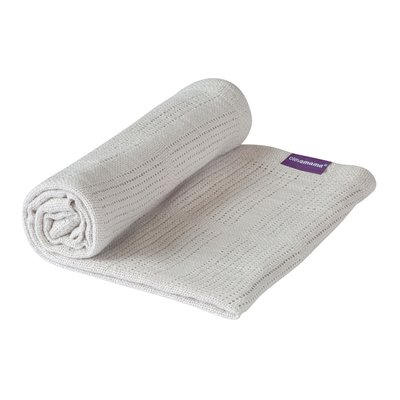 Clevamama Cot/Cot Bed Cellular Blanket 120 x 140 cm - Grey - Default