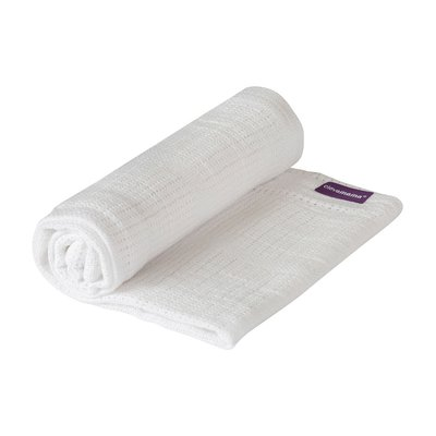 Clevamama Cot/Cot Bed Cellular Blanket 120 x 140 cm - White