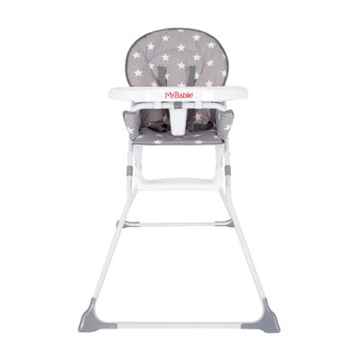 My Babiie Compact Highchair - Grey Stars