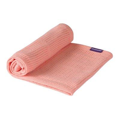 Clevamama Crib/Moses Basket Cellular Blanket 70 x 90 cm - Coral - Default