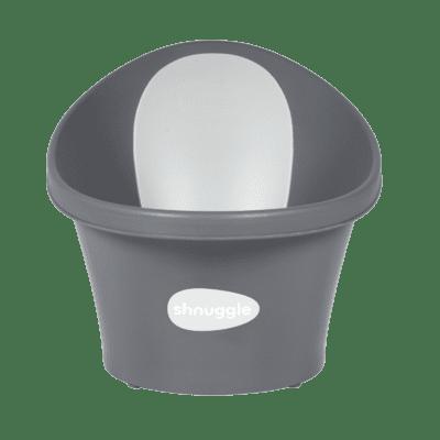 Shnuggle Baby Bath With Plug & Foam Backrest - Slate Grey