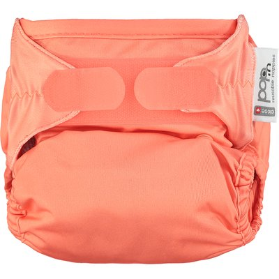 Pop In Single Bamboo Nappy - Coral