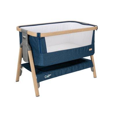 Tutti Bambini CoZee Bedside Crib - Oak/Midnight Blue