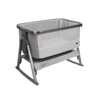 Tutti Bambini Cozee Air Bedside Crib - Space Grey & Slate - Default