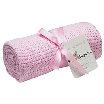 Baby Elegance Cot Cellular Blanket - Pink
