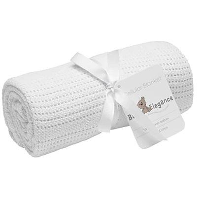 Baby Elegance Cot Cellular Blanket - White - Default