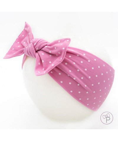 pippa bow pink spot medium