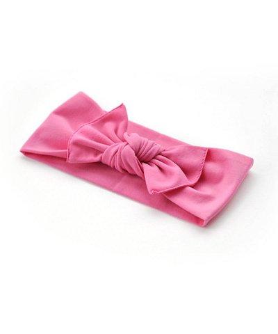 pippa bow hot pink plain small