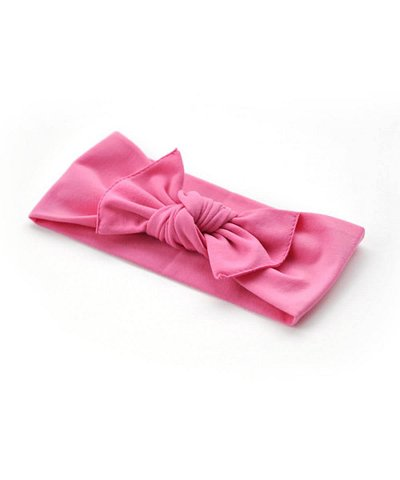 pippa bow hot pink plain small