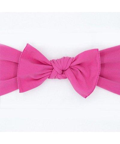 pippa bow hot pink plain medium