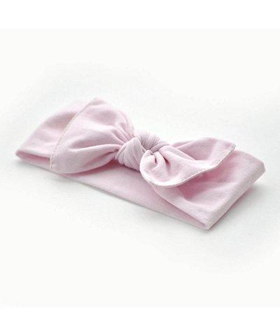 pippa bow baby pink plain small