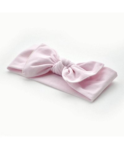 pippa bow baby pink plain small