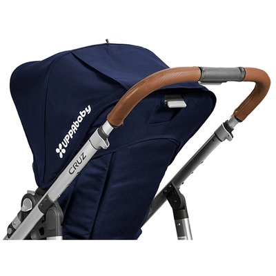 Uppababy Cruz Leather Handle Bar Cover - Saddle