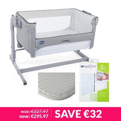 Chicco Next2Me Air Crib, Sheets, & Mattress Protector Bundle